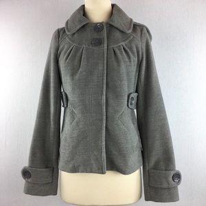 Anthropologie Tulle Pea Coat